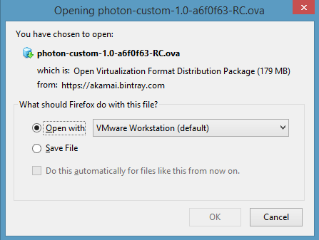 Quick Start · VMware Photon OS 1 0 and 2 0 Documentation