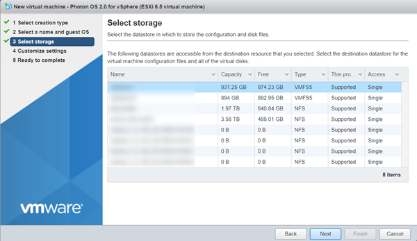 Running Photon OS on vSphere · VMware Photon OS 1 0 and 2 0