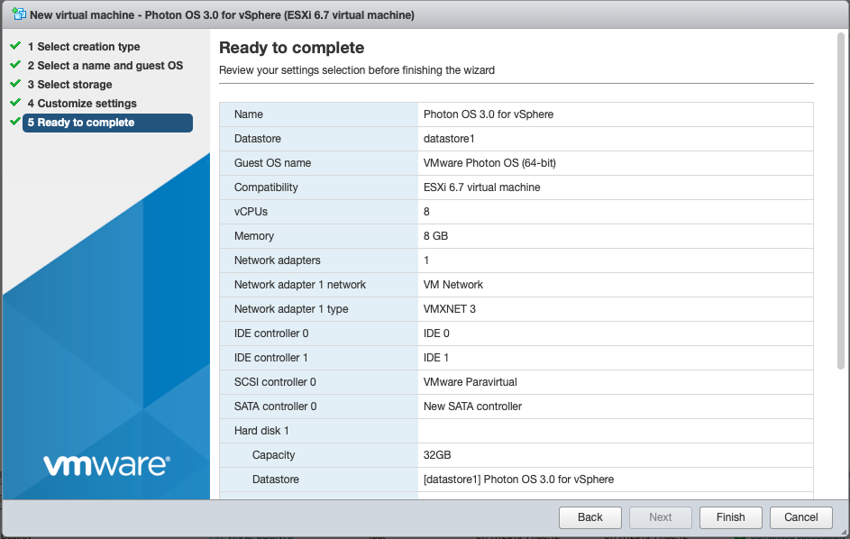 Installing the ISO Image for Photon OS 3 0 · VMware Photon OS 3 0